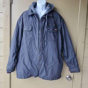 Grey Dickies Mens Quilted Hooded Work Jacket